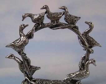 Geese Napkin Ring Set of 4