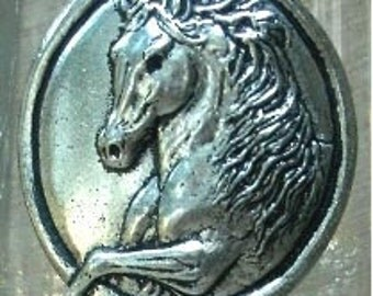 Horse Wine Glass, Spanish Horse in Pewter