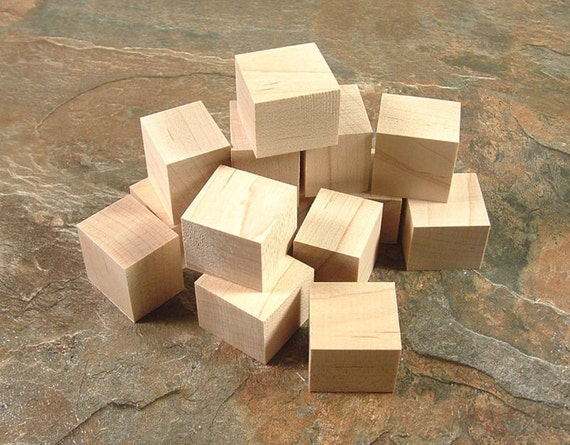 Wooden craft blocks maple wood unfinished diy