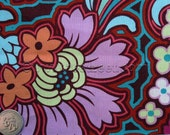 DISCO FLOWER Chocolate - Amy Butler Soul Blossoms Fabric - 1 Yard