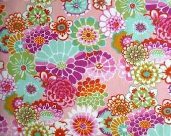 Kaffe Fassett ASIAN CIRCLES PINK Multi Gp89 Quilt Fabric - by the Yard, Half Yard, or Fat Quarter Fq