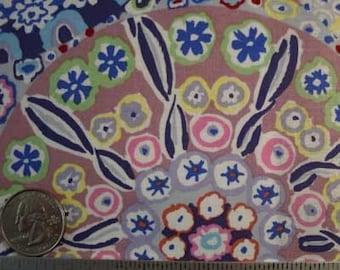 Kaffe Fassett MILLEFIORE PASTEL GP92 Blue Quilt Fabric - by the Yard