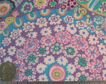 Kaffe Fassett MILLEFIORE GP92 Lilac Floral Quilt Fabric - by the Yard, Half Yard, or Fat Quarter Fq