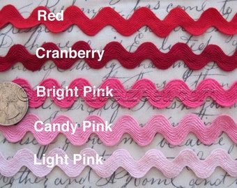 SALE Choose Color - 10 Yards 5/8-inch RIC RAC Sewing Trim - Select One Color Only - Rick Rack 1.58cm