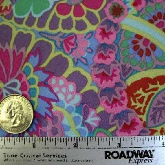 Kaffe Fassett PAISLEY JUNGLE GREY Gray Lilac Gp60 Quilt Fabric by the Yard, Half Yard, or Fat Quarter Fq