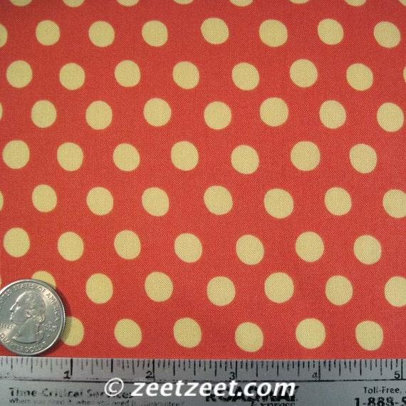 Kaffe Fassett SPOTS Paprika GP70 Polka Dot Quilt Fabric - by the Yard, Half Yard, or Fat Quarter Fq
