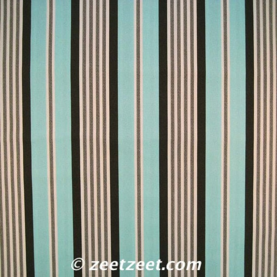 Michael Miller Banded TICKING STRIPE Aqua Quilt Fabric by the Yard
