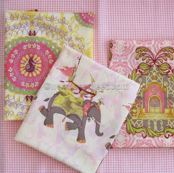 3 FAT QUARTER Set - Pernilla's Journey - Tina Givens - Cotton Candy Quilt Fabric