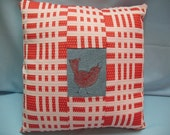 Red, Red Birdy Pillow