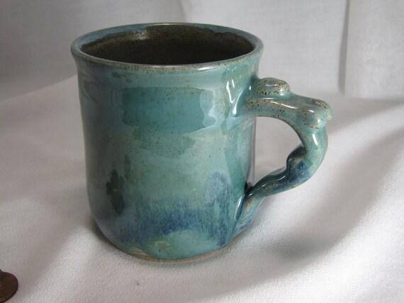 Mermaid Handle Stoneware Mug