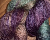 Hand-dyed Fingering Superwash and Nylon Sock Yarn - Rose (104)