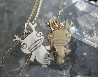 Plurk Buddy with Horns in Sterling Silver