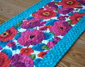 Contemporary Poppy Punch Tablerunner Extra-Long FREE SHIPPING in the USA
