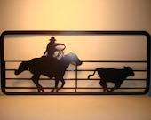 Calf Roper Rodeo Wall Hanging
