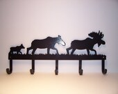 Moose Family Coat Rack