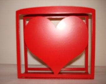 Heart Napkin or Letter Holder