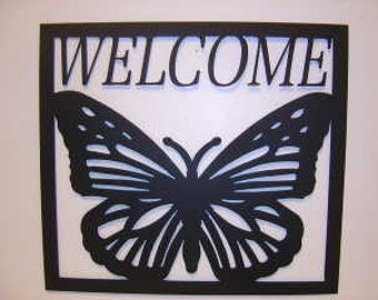 Butterfly Welcome Sign SALE