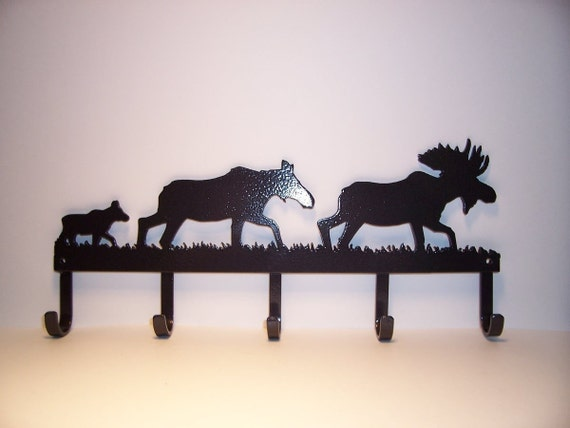 Moose Family Coat Rack