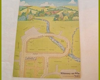 SPECIAL SALE    Light Cardboard Display Card for Wade Whimsey on Why Houses Sets 1 and  2