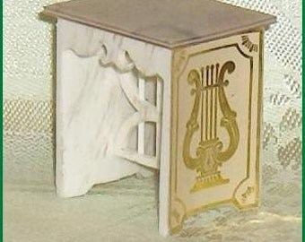SPECIAL SALE   Lyre Table Vintage Ideal Petite Princess Plastic   Dollhouse Furniture