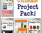 Special Sale -- ULTIMATE PROJECT PACK-- Original, Custom Photo, Glass Tile, Scrabble in Style --  Four (4) E-Book Tutorials