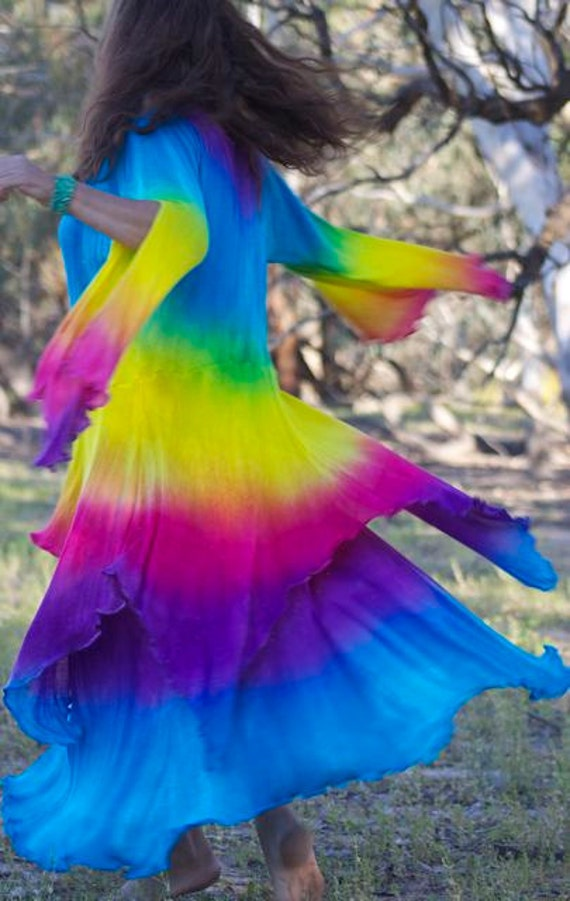 Feng Huang....A Rainbow dress that emanates Dragon Energy,powerful and beautiful and strong.