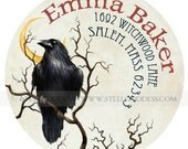 The Mysterious Raven Address Label - Set of 30