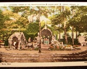 Shrine of the Transfiguration Mont Cathedral Orkney Springs Virginia VA Linen Postcard