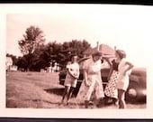 Vintage Photo 4 Women Shorts Skirts Snapshot Hike to Flat Rock July 1949