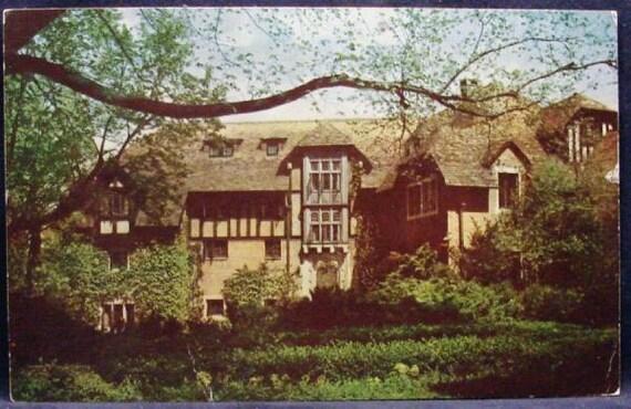 Agnes Anderson Hall Elsah IL Dormitory Women Principia College Postcard