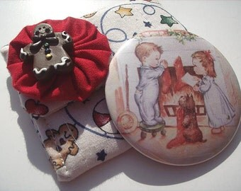 Night Before Christmas Pocket Mirror with Carrying Case
