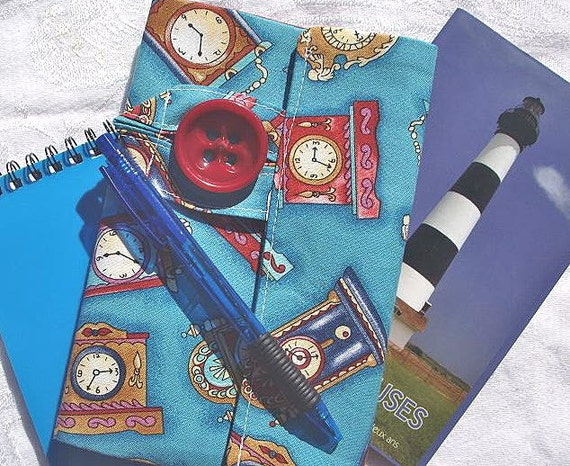 Vintage Clocks Personal Planner Wallet Organizer on Clearance
