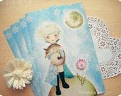 Wintry Little Prince Oversized Postcard
