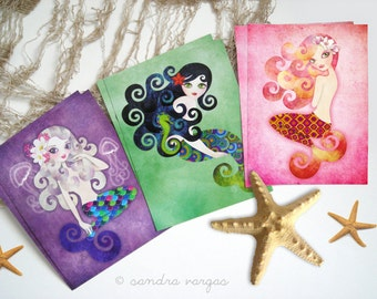 Mermaids Postcard Gift Set of 6 Postcrossing