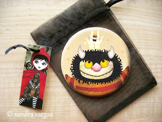 Friendship (Where the Wild Things Are) 3.5 inches Pin Back Button