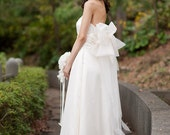 Balloon Back Bow Wedding Dress -The Akina Gown