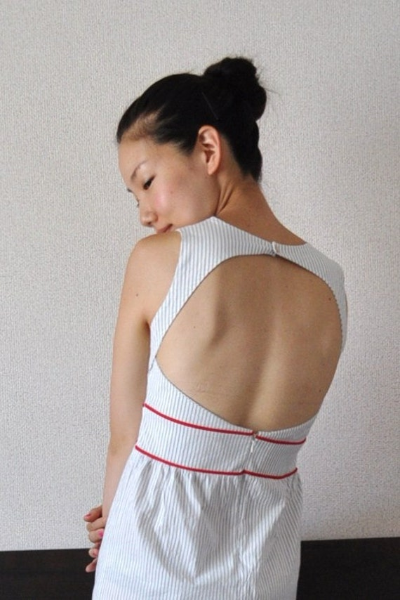 Nautical Back Cut Out Dress