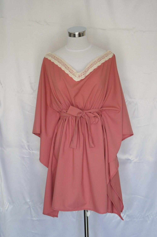 Dusty Rose Poncho Dress By Vivatveritas7 On Etsy
