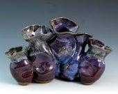 Purple Smoosh-Pot Vase