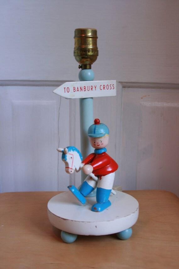 Vintage nursery lamp