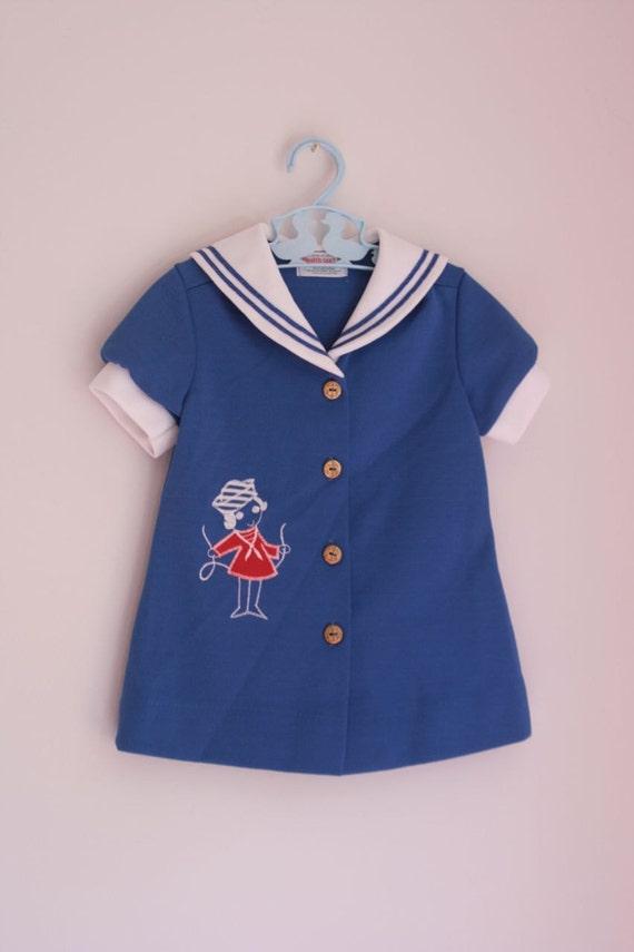 Vintage Healthtex tailor sailor dress 2/3t