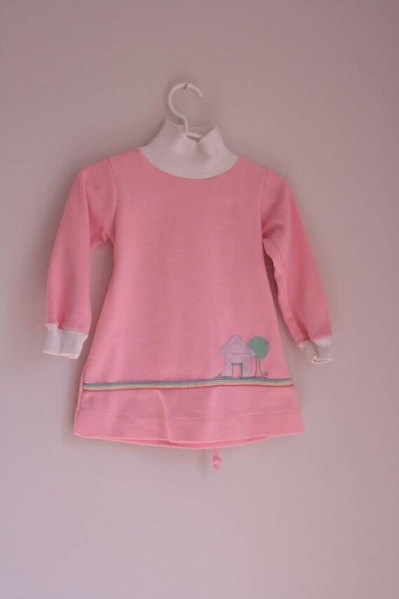 Vintage healthtex pink sweatshirt dress 2/3T