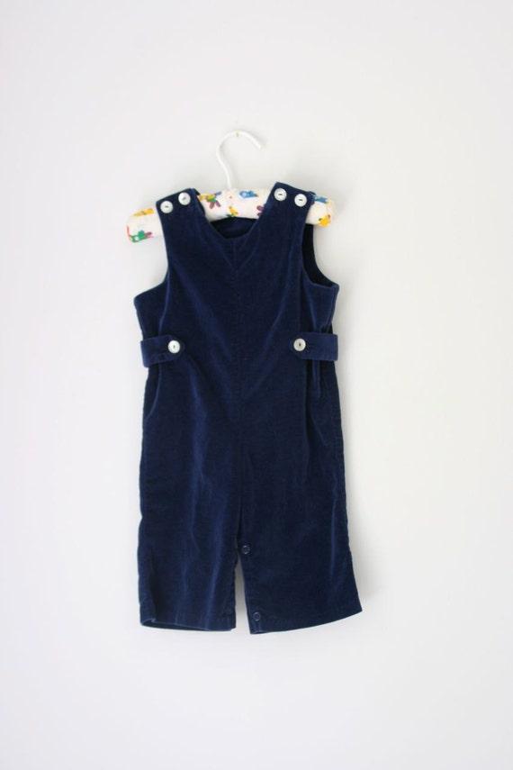 VTG Blue velvet romper by imp originals 12 months