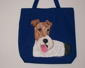 Reuseable shopping tote with Fox Terrier (wire coat)
