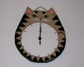 Clock Tan Tabby Fat Cat
