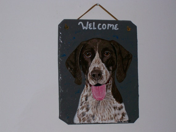 German Shorthaired Pointer Welcome Slate no.1