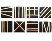Modern Minimal Organic Urban Geometric Wood Wall Blocks - Lines in 8 - by Rosemary Pierce