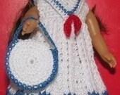 American Girl Mini Crochet Pattern - Sailor Dress