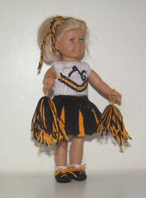 American Girl Mini Crochet Pattern - Cheerleader Outfit