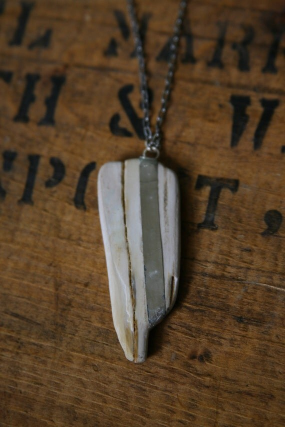 Bones of the Forest Necklace // Petrified Wood Pendant